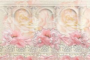 Абстракция с арками и цветами