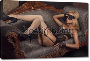 Девушка вкрасивом нижнем белье