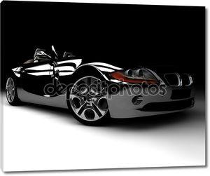 черный автомобиль