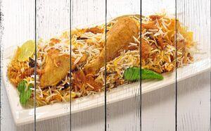 Блюдо с рисом и курицей