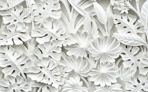 Объемный растительный орнамент