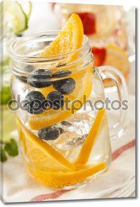 здоровые спа воды с фруктами