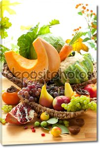 Осенний овощи и фрукты