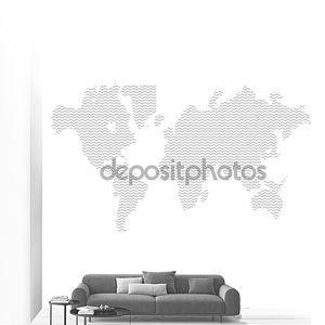 векторная телекоммуникационная земная карта резюме.