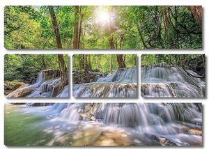 Водопад в Канчанабури Таиланд