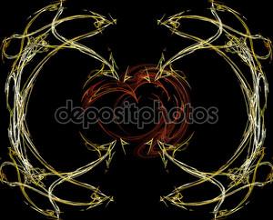 Сердце абстрактный золото