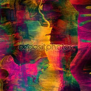 Искусство фон абстрактный colorfur яркие бумаги