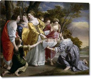 Орацио Джентилески. Нахождение Моисея