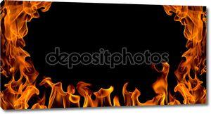огонь пламя абстрактный, изолированный