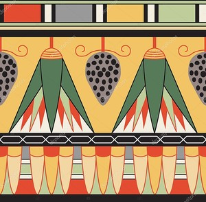 Egyptian ornament, vector illustration, seamless pattern