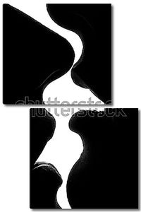 Поцелуй на белом фоне