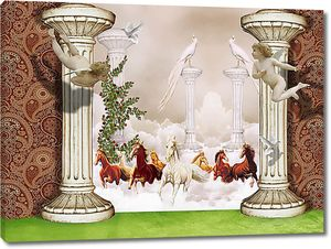 Табун с колоннами и ангелами
