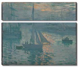 Клод Моне. Восход солнца. Море