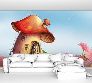 Сад с домовой гриб