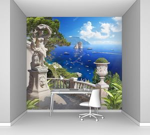 Средиземноморский пейзаж. Панорама
