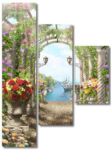 Цветочная арка к морю