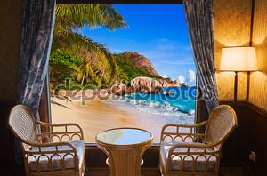 Пейзаж из окон отеля