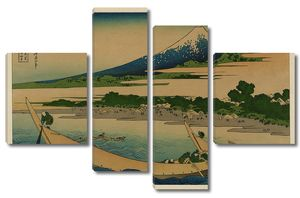 Кацусика Хокусай. Эскиз побережья Тагоноура в Эдзири на дороге Токайдо