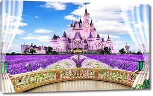 Вид на сказочный замок
