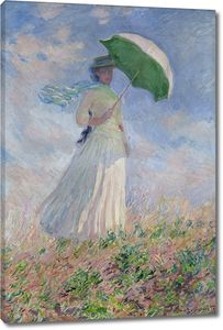 Клод Моне. Женщина с зонтиком, развернувшаяся направо