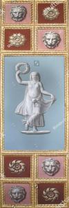 Архитектурный элемент с фигурой женщины
