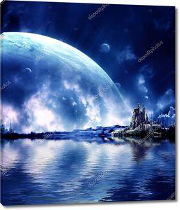 Пейзаж на фэнтезийной планете