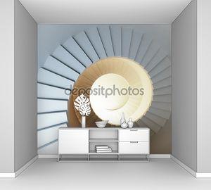Винтовая лестница с подсветкой
