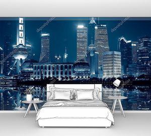 Шанхайская панорама ночью