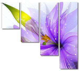 Цветок лилии с белым фоном