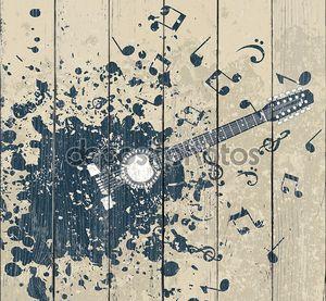 Гитара на ретро