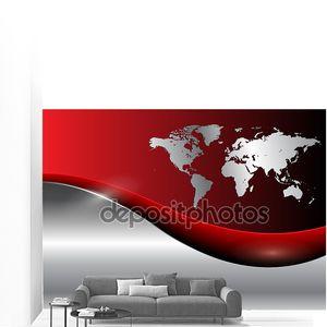 Бизнес фон с картой мира