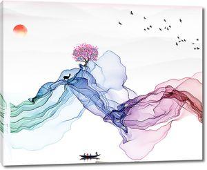 Цветная вуаль