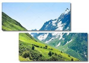 Вершины гор. Домбай. Россия