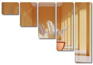 Полусферы с пальмовыми ветвями