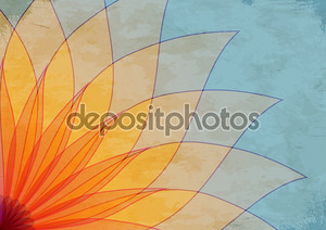Abstract background with petals