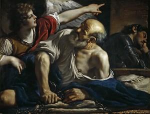 Джованни Франческо Гверчино (Барбьери). Св Петр, освобождаемый ангелом