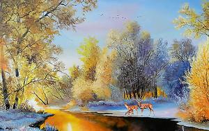 Поздняя осень на реке