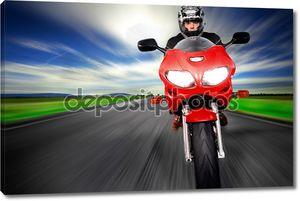 Скорость мотоцикла, очень быстро