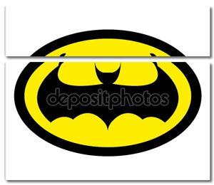 Супергерой плоский стиль значок