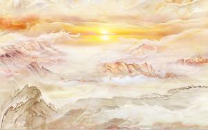 Закат на горном камне