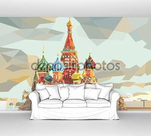 St. Basil's Cathedral  on the red square in Moscow Russia