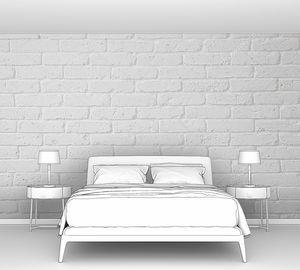 Белая кирпичная стена покрашенная