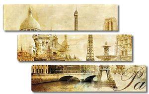 Старый красивый Париж - художественный картинки из моей марочные серии