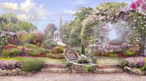 Романтический сад парк