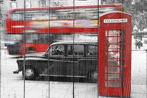 Лондон телефонной будки и такси