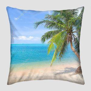 Пальма на пляже справа