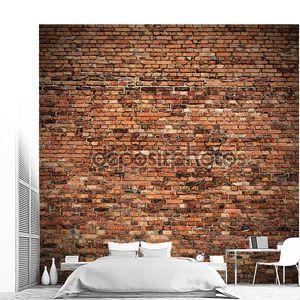 красной кирпичной стены Текстура гранж-фон с кашированные углы для дизайна интерьера