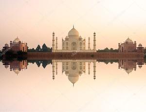 Тадж-Махал на закате, Агра, Уттар-Прадеш, Индия