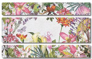 Разные цветы с птицами