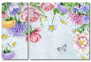 Композиция из веселеньких цветов